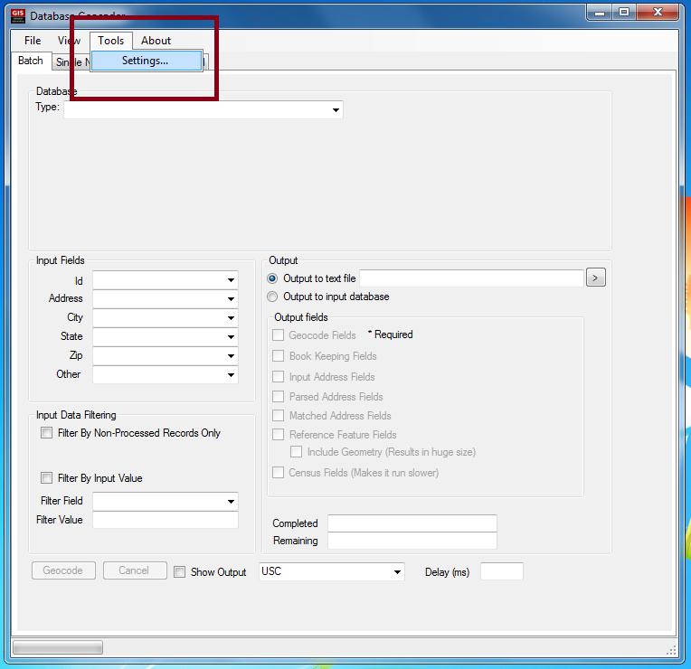 Free Texas A&M Geoservices Desktop Geocoding Client