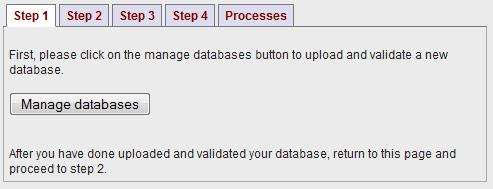Upload your database
